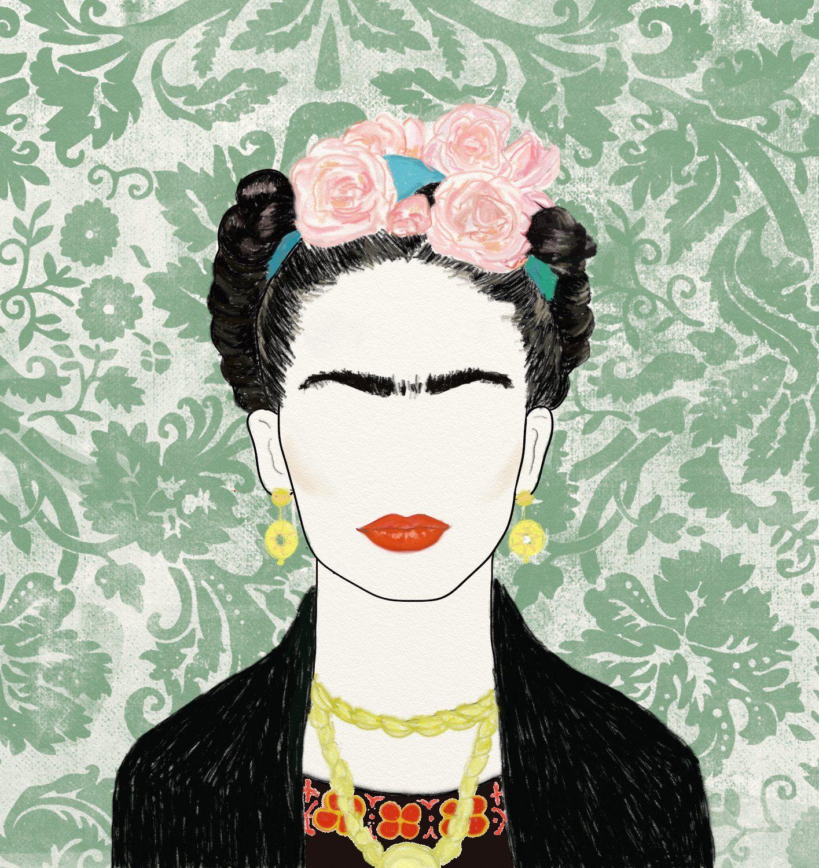 Ilustración de Frida Kahlo. #FridaKahlo #illustration