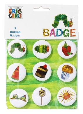 Very Hungry Caterpillar Pin Badges Pinned for Kidfolio, the parenting mobile app that makes sharing a snap.