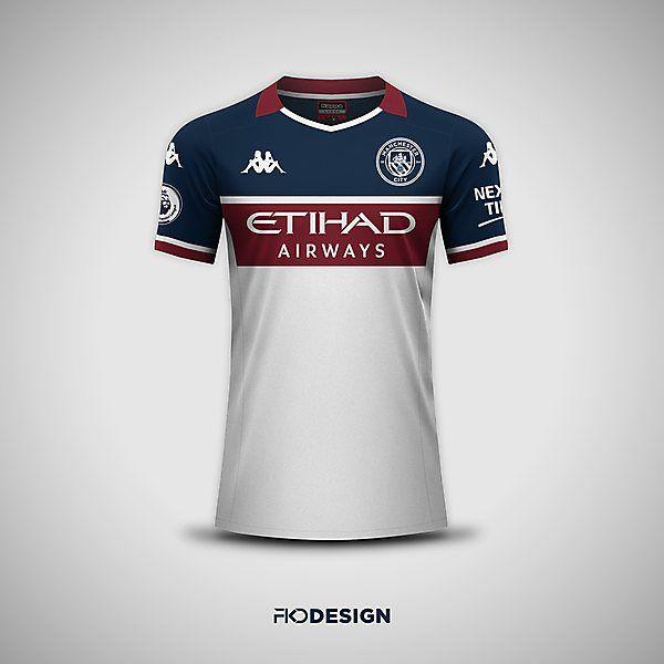 Manchester City X Kappa Away Shirt Concept By Fkd Design Em 2020 Camisa Esporte Esportes