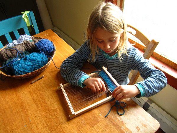 Small-loom weaving plus MYO card loom.