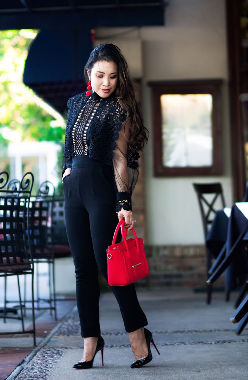 f2a75413ab40 Black Lace Jumpsuit For Date Night