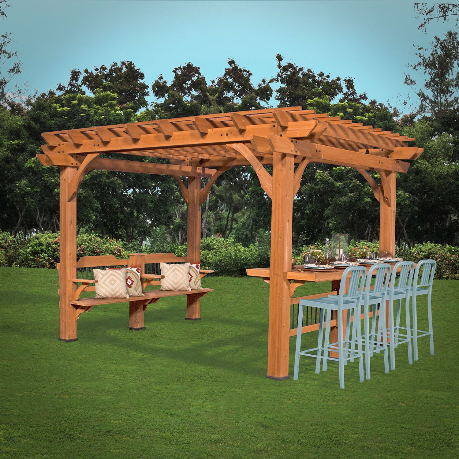 Oasis 12 X 10 Pergola Backyard Pergola Outdoor Pergola Pergola Plans