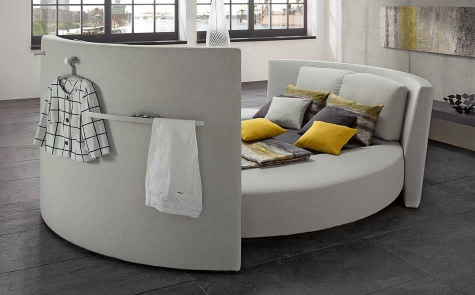 cinemaro  luxurious round bed  rufbetten  wood