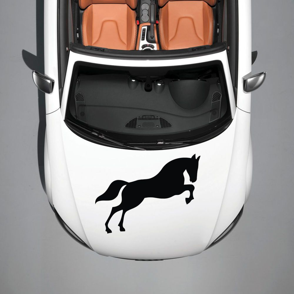 Horse Mustang Animal Cute Design Hood Car Vinyl Sticker Decals - Best automobile graphics and patterns