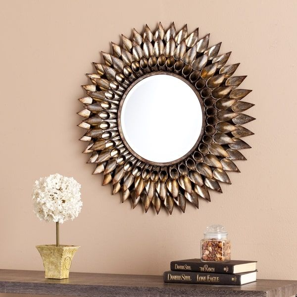 Harper Blvd Letterman Round Decorative Wall Mirror | Decorating ...