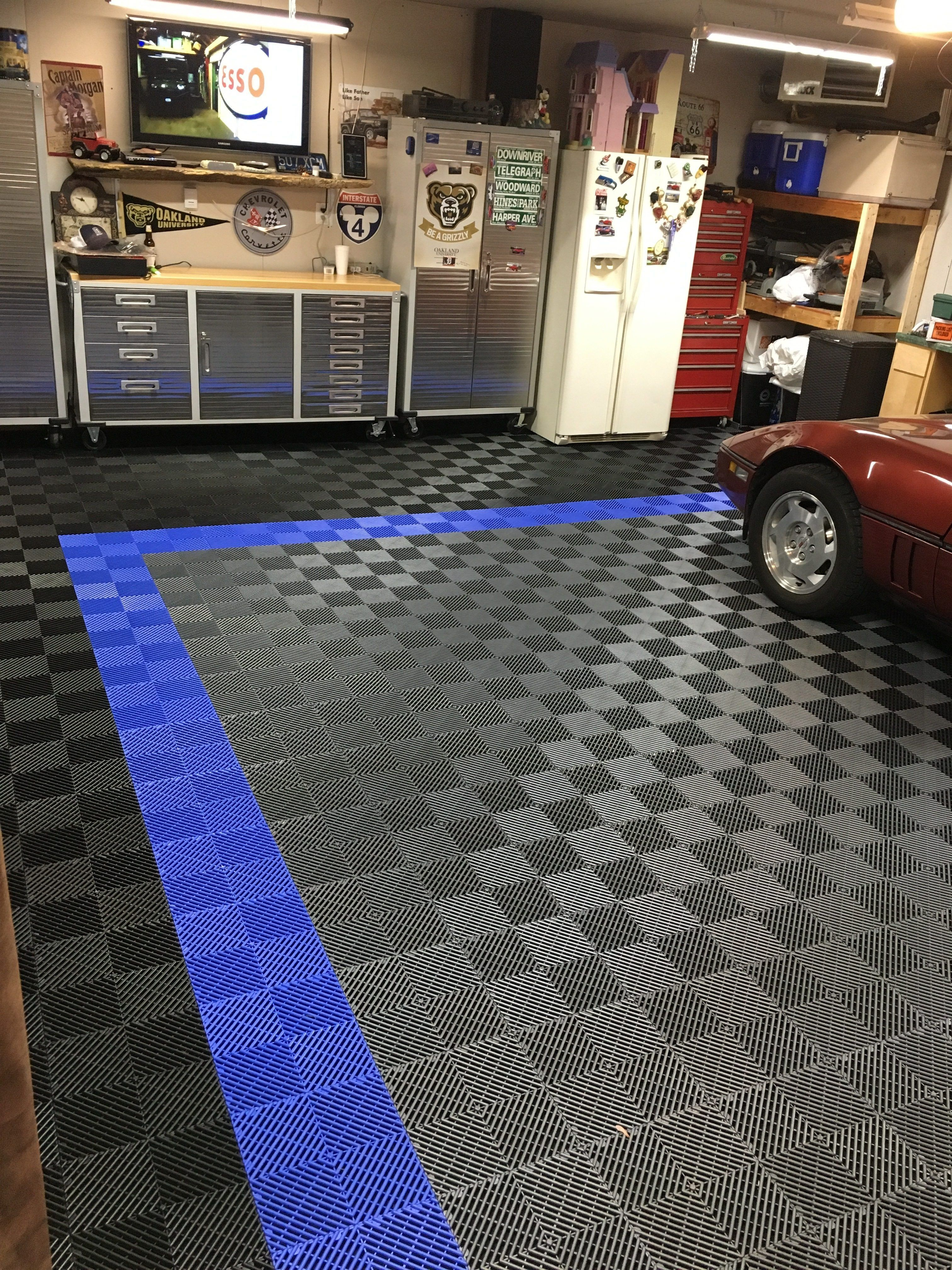 Before And After Racedeck Free Flow Brian S Garage Tile