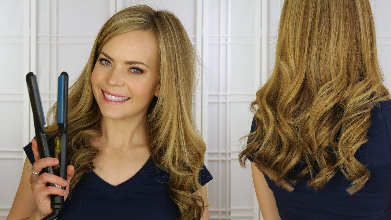 Curl Extensions with a Flat Iron #flatironwaves