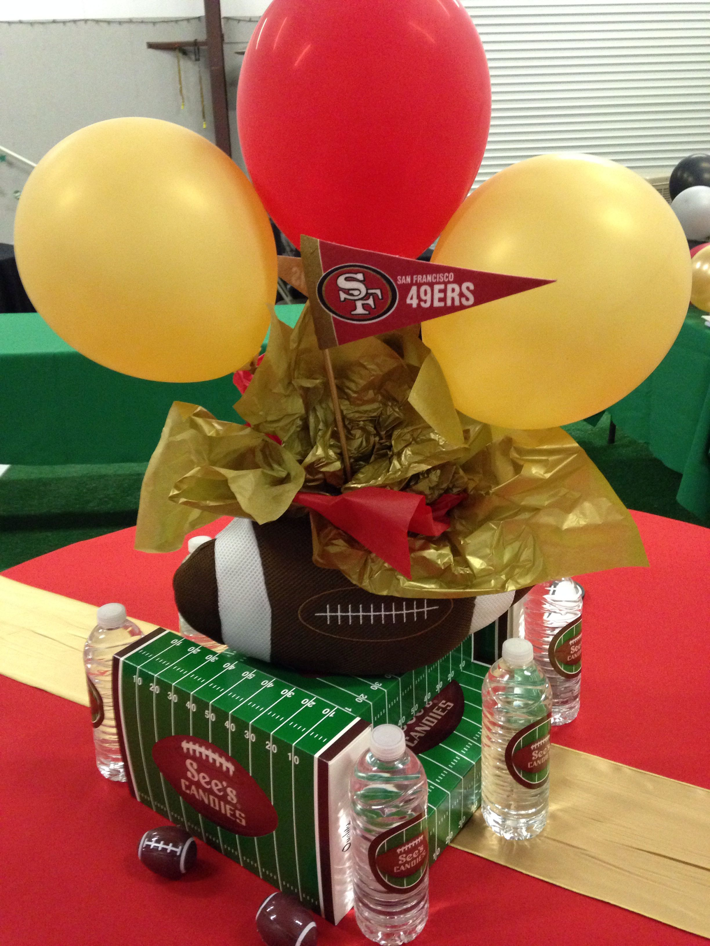49er Football Centerpiece 49ers Birthday Party Nfl Elmo