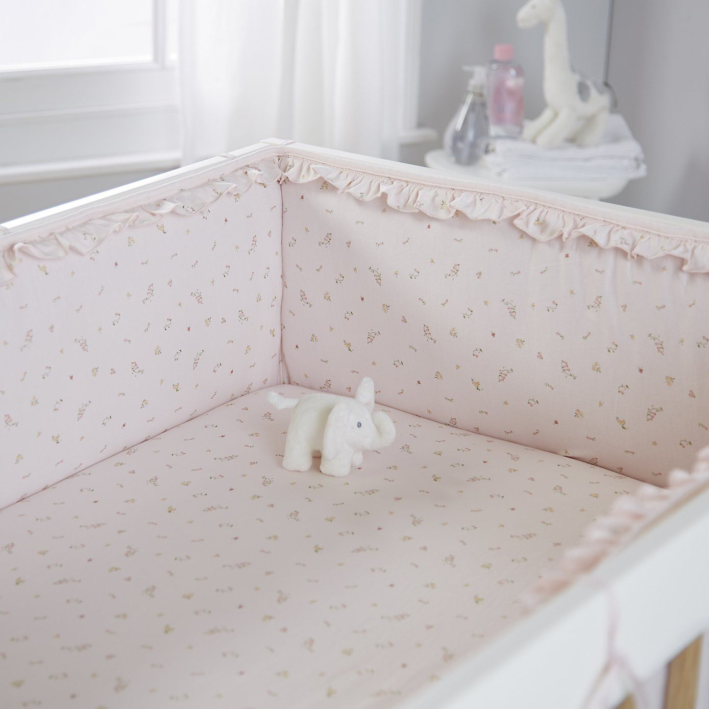 bella jersey cot bumper the white company girls bedroom