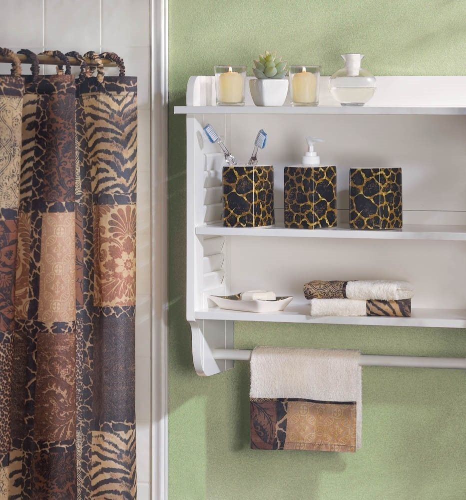 Bathroom African-Style Prints Matching Accessories Set Home D…