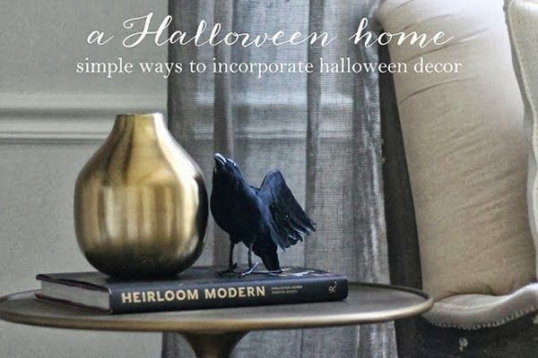 Subtle Halloween Touches For The Home Halloween Pinterest - how to make simple halloween decorations