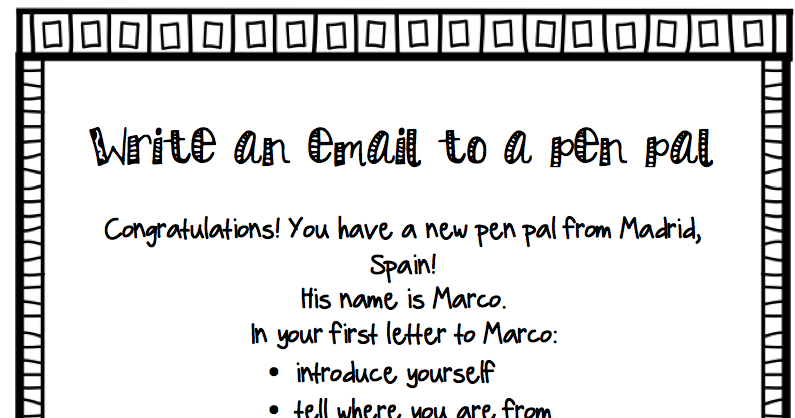 Get your novice mids started writing letters with this simulated pen get your novice mids started writing letters with this simulated pen pal activity includes spiritdancerdesigns Images