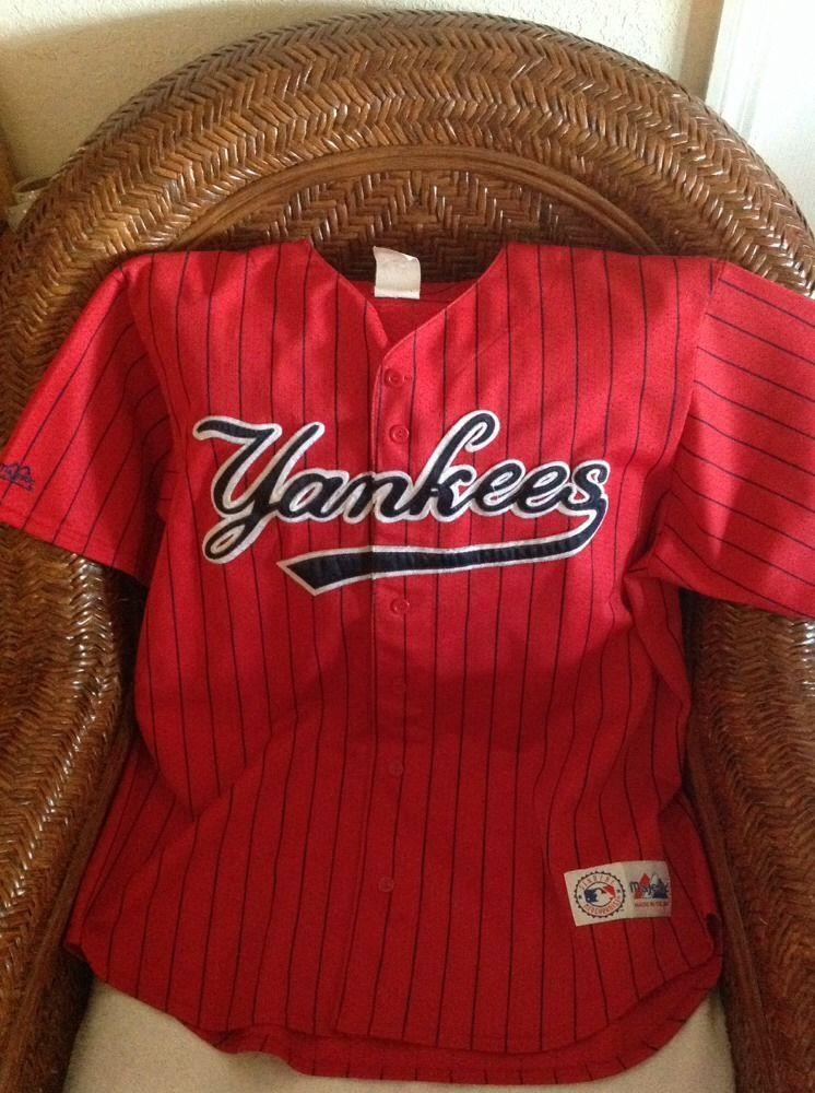 Majestic Vintage new york yankees MLB red Baseball jersey