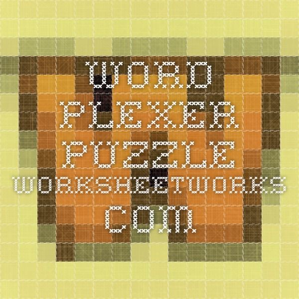 Word plexer puzzle worksheetworks wordles pinterest word plexer puzzle worksheetworks ibookread