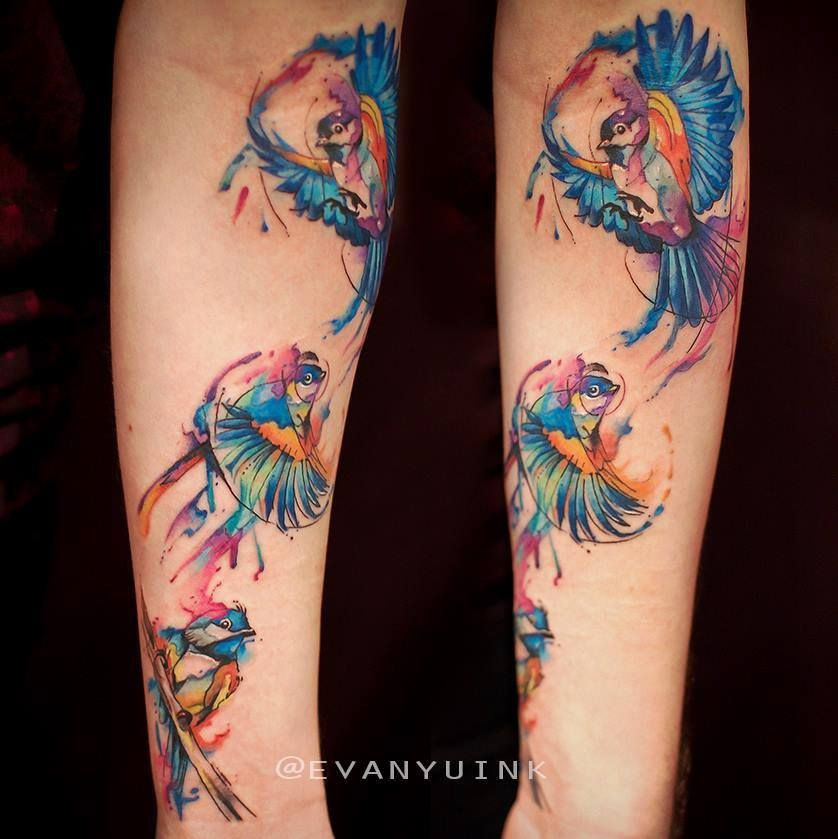 Chronic Ink Tattoos Toronto Tattoo Shop: Toronto Tattoo Watercolour Chickadee