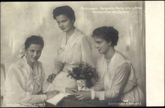Prinzessin Margarete, Maria Alix, Anna, Herzoginnen von Sachsen