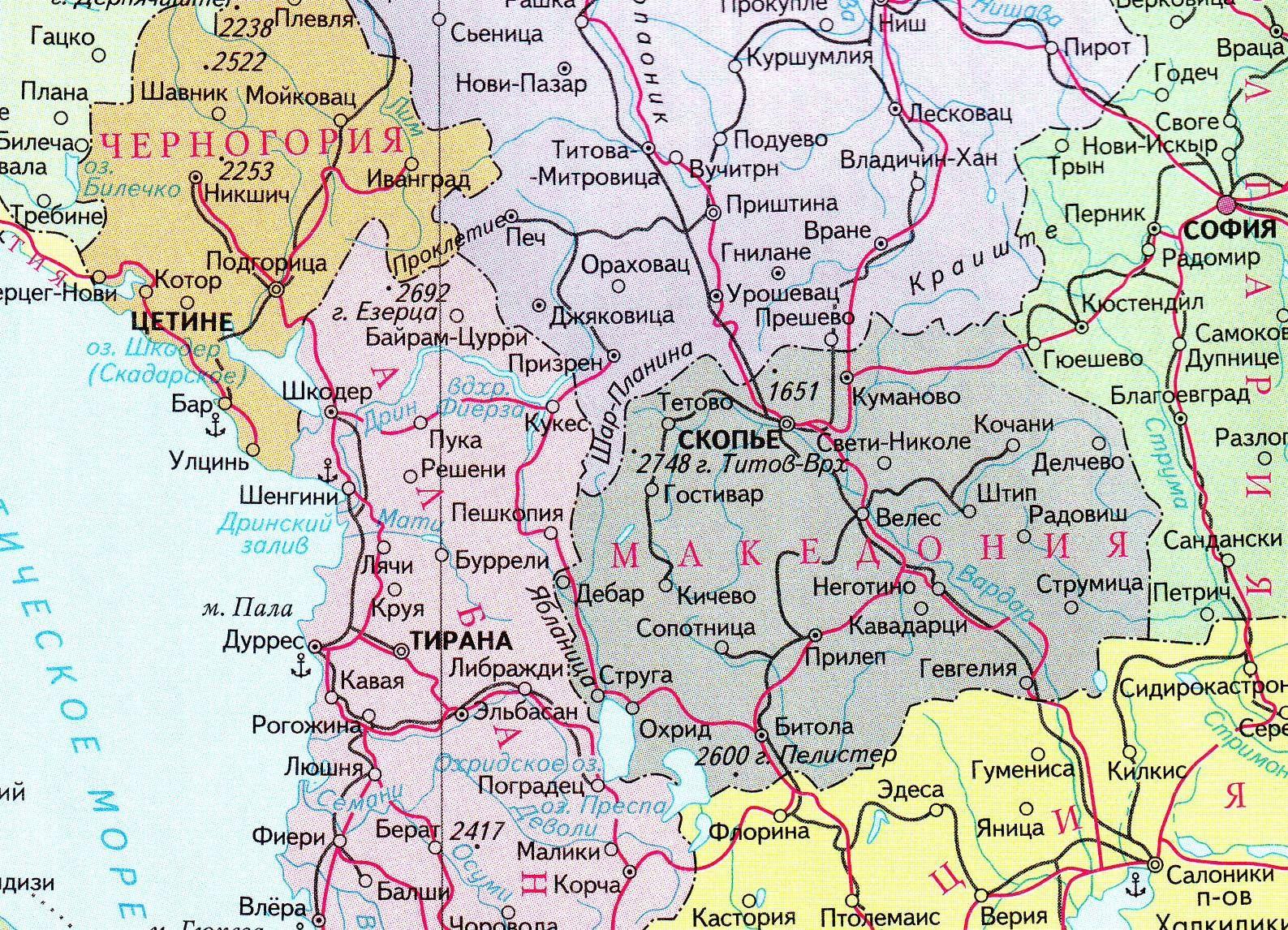 Karta Makedoniya Makedoniya Na Karte Infokart Vse Karty Seti