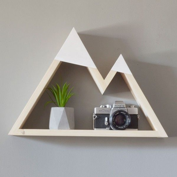 Mountain Geometric Shelf   White