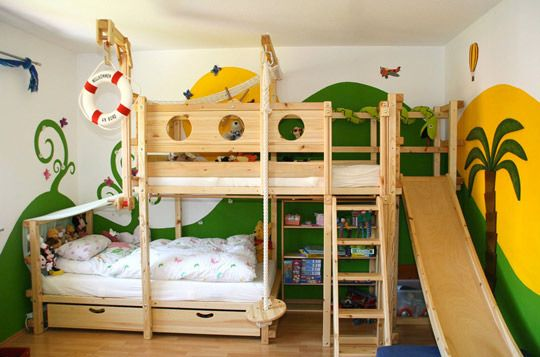 Best Offset Bunk Beds With Slide Kid Stuff Pinterest My 400 x 300