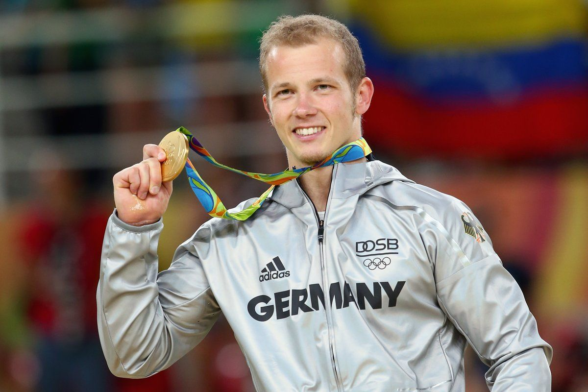 Fabian Hambuechen #GER wins #Gold in horizontal bars, Oleg Verniaiev #UKR in parallel bars. #ArtisticGymnastics