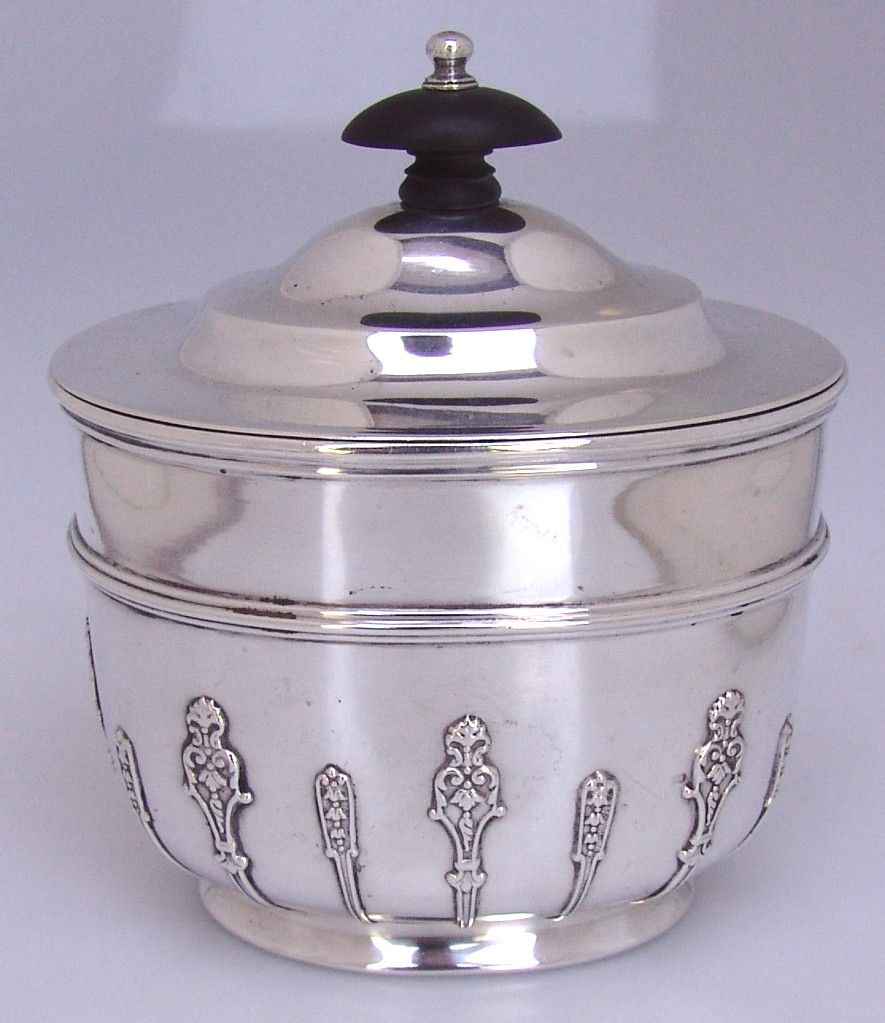 Tea Caddy , Holland Adwinkle & Slater , Sterling Silver