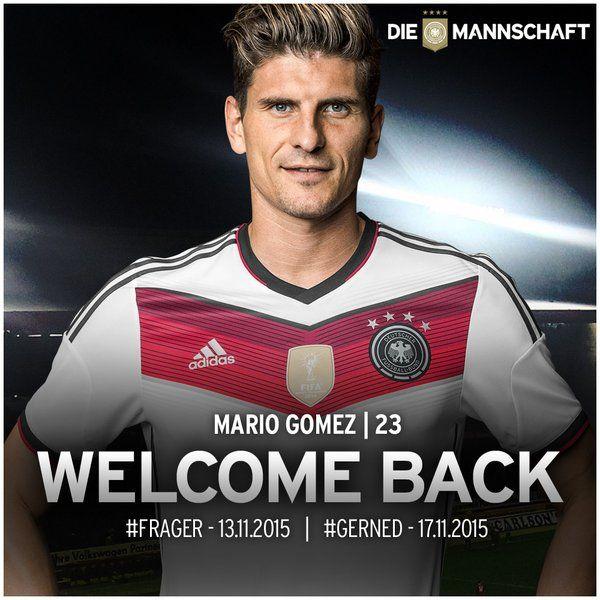 Die Mannschaft On Twitter Mario Gomez Mario Mannschaft