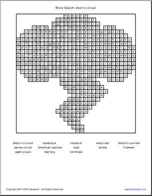 Word Search Electricity Member Created Document This Sample Was
