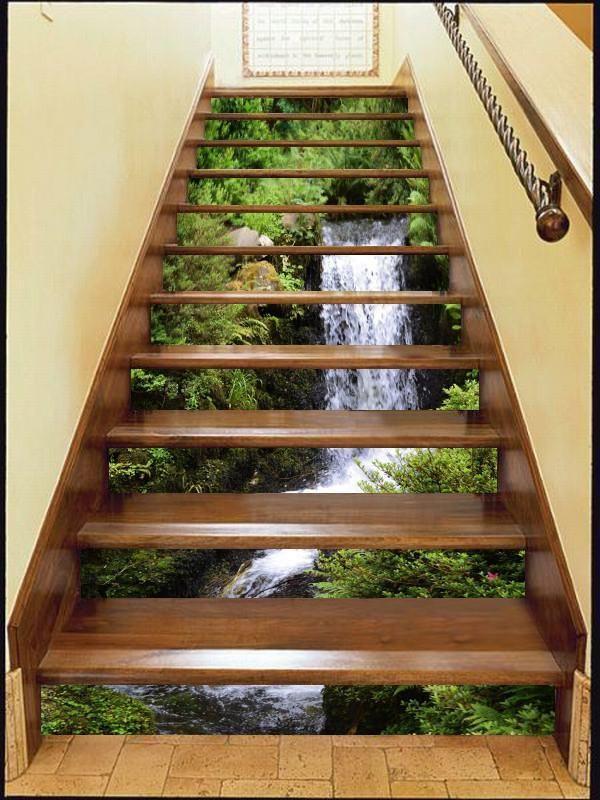 Best 3D Rocky River 205 Stair Risers Wallpaper Aj Wallpaper 400 x 300