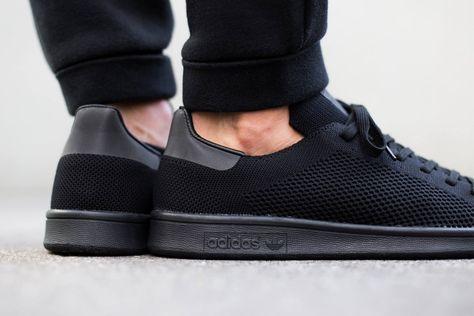 Présente All Chaussures Adidas Primeknit Smith Stan La Black wATdIq0