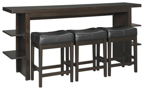 Stupendous Room Solutions By Ashley Carlyle Sofa Table With Stools At Unemploymentrelief Wooden Chair Designs For Living Room Unemploymentrelieforg