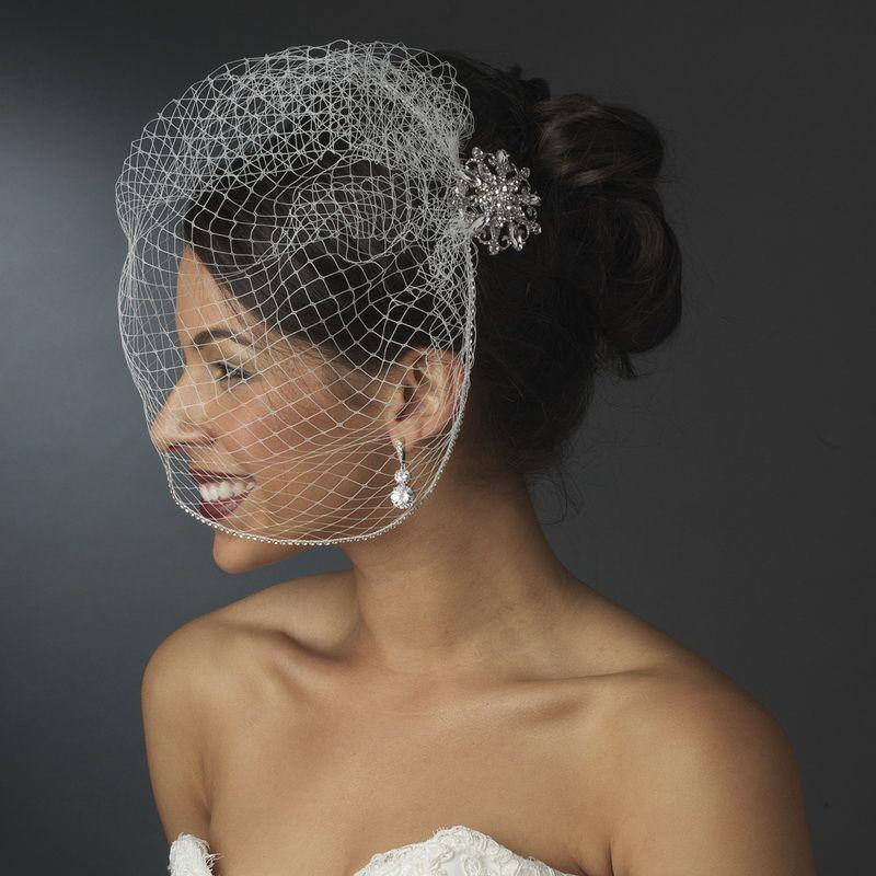 Elegant Rhinestone Glamour Bridal Brooch - Brooch 48 Antique Silver