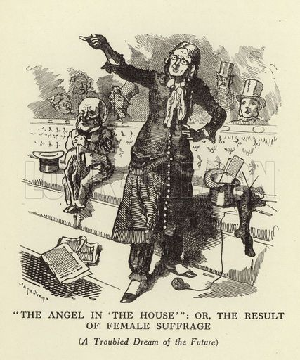 The Angel Of The House Is A Trope That Came Up Frequently In The Readings This Week Here Is A Political Cartoon Deni Giclee Print Cartoon Posters Art Prints