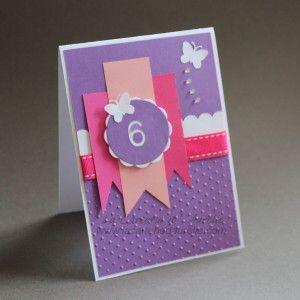 Carte Anniversaire Petite Fille 6 Ans La Carterie D Aurelie