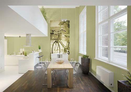 Una pennellata di verde in casa: nella foto, la linea Altagamma Lady di Jannelli&Volpi, carta da parati vinilico su telawww.jannellievolpi.it