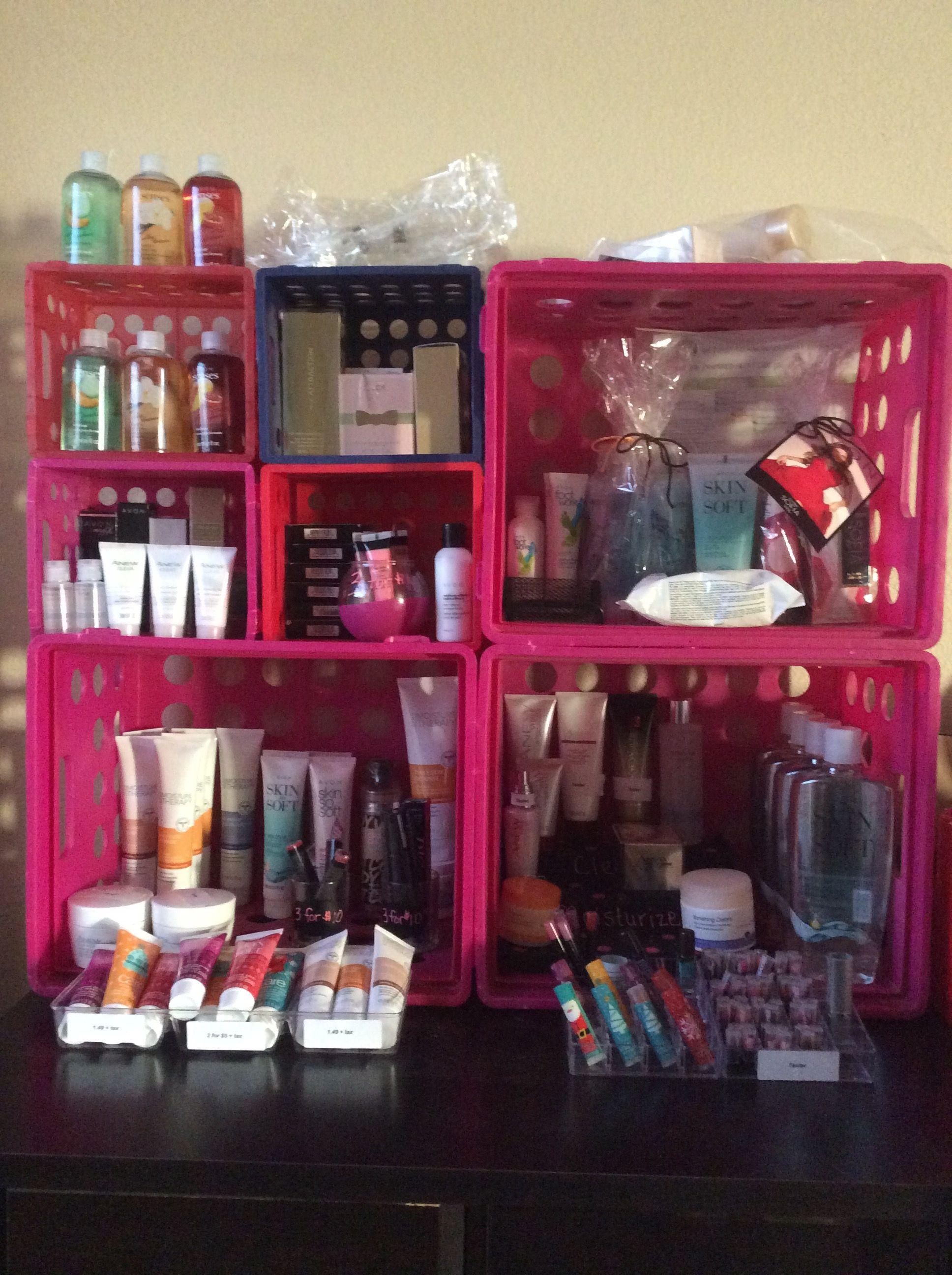 Myavonstore Just A Little Of The Products That I Have On Hand Www Youravon Com Christelsilva Avonlady Empoweri Avon Gift Baskets Avon Display Avon Business