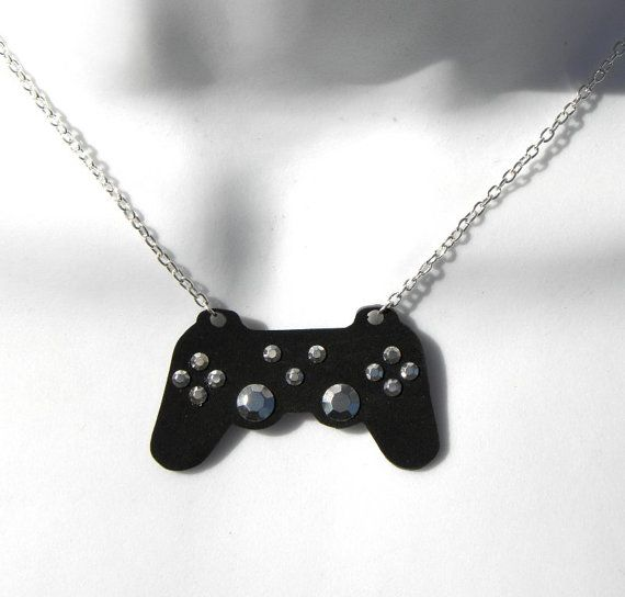Girl gamer playstation video games controller necklace quiero girl gamer playstation video games controller necklace aloadofball Choice Image