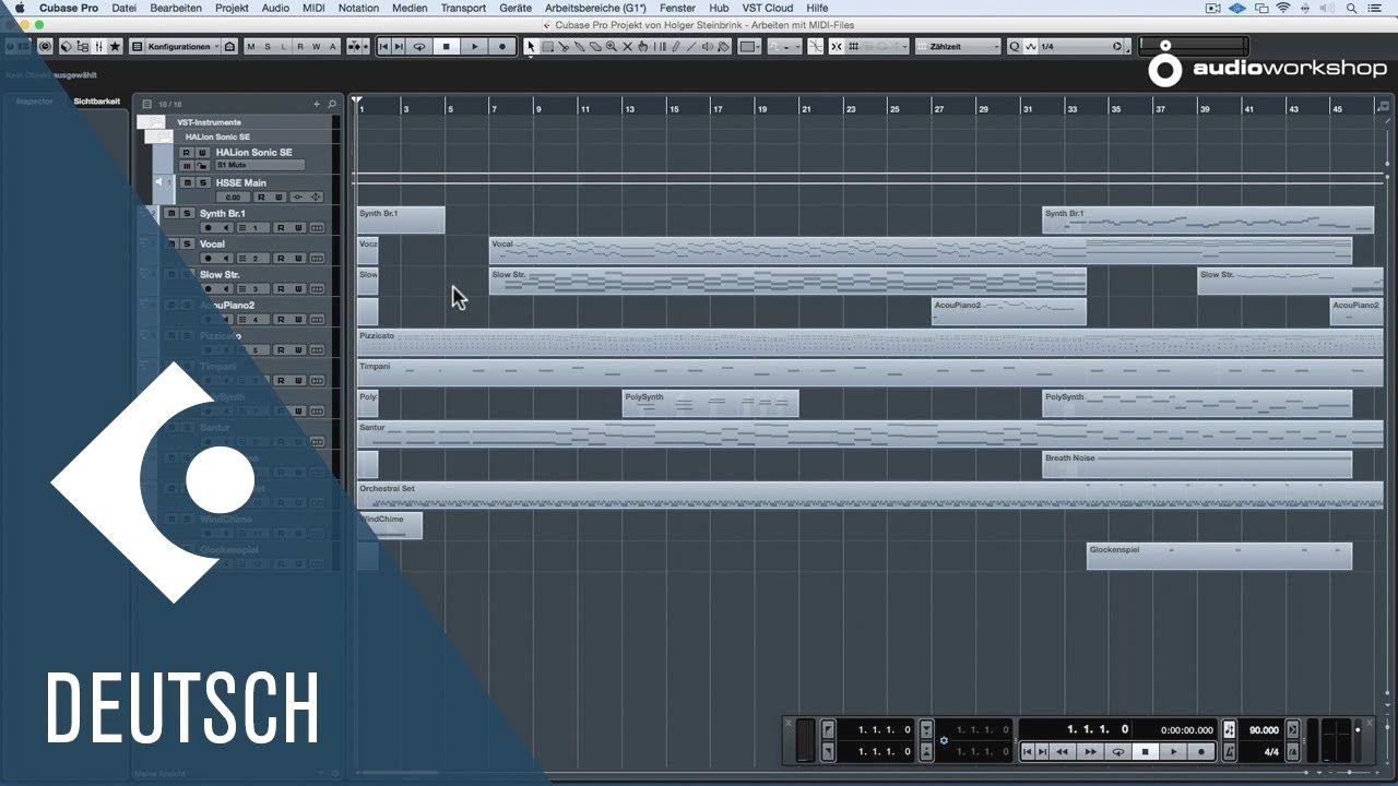 Arbeiten mit MIDIFiles Cubase Praxis Tipps djmix