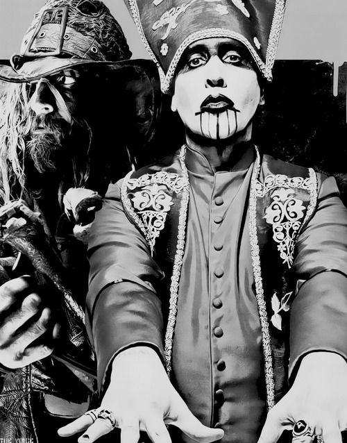 Image result for free to use image of marilyn manson and rob zombie