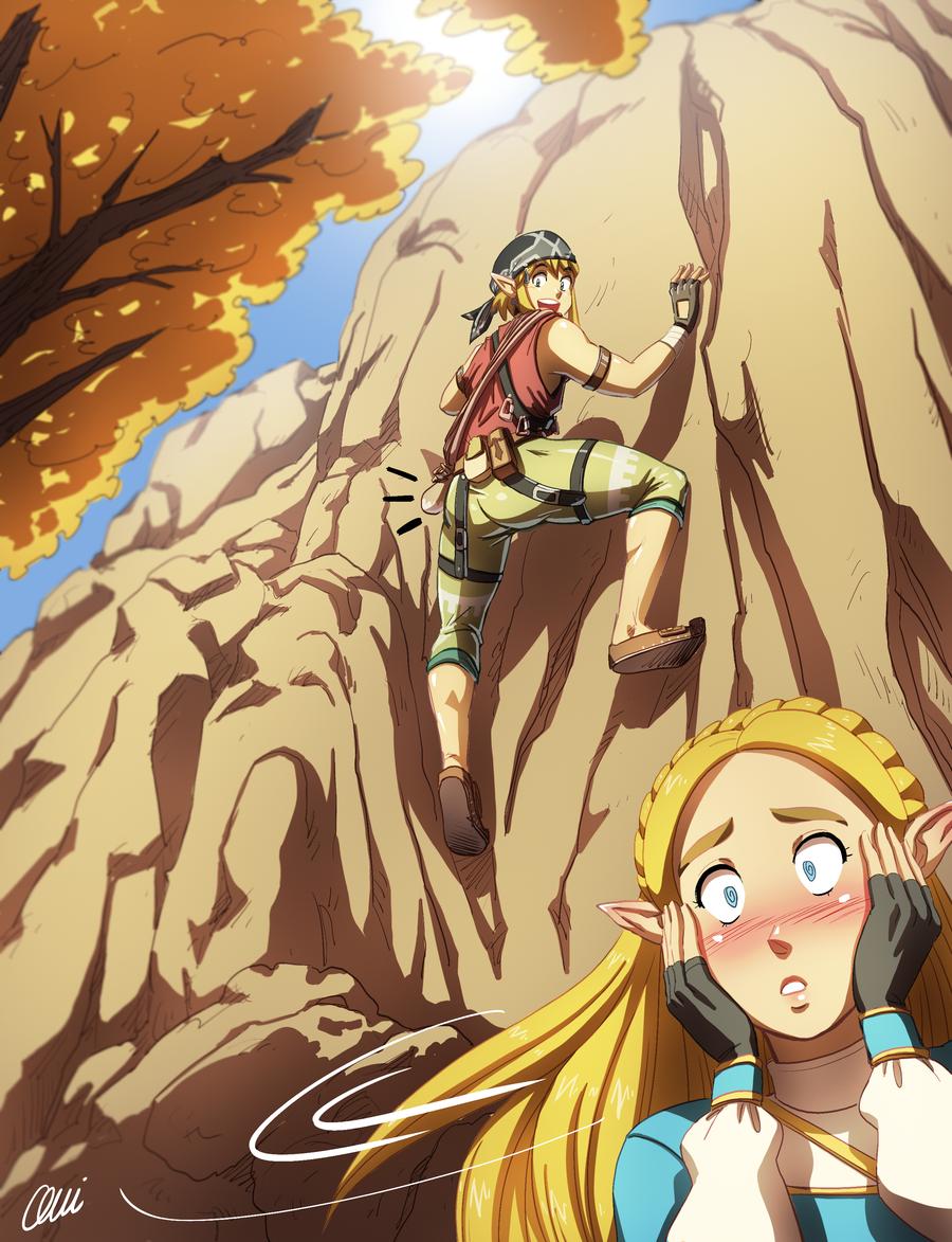 Zelda And Link Look At Me Princess By Onichan Xd