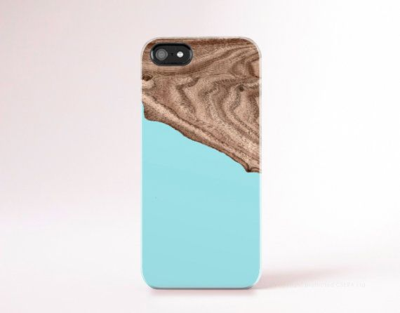 Mint iPhone 6 Case Wood Print Geometric iPhone5 by casesbycsera