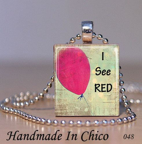 Scrabble jewelry scrabble tile pendant i see red chd awareness scrabble jewelry scrabble tile pendant i see by handmadeinchico 695 chd fundraiser aloadofball Choice Image