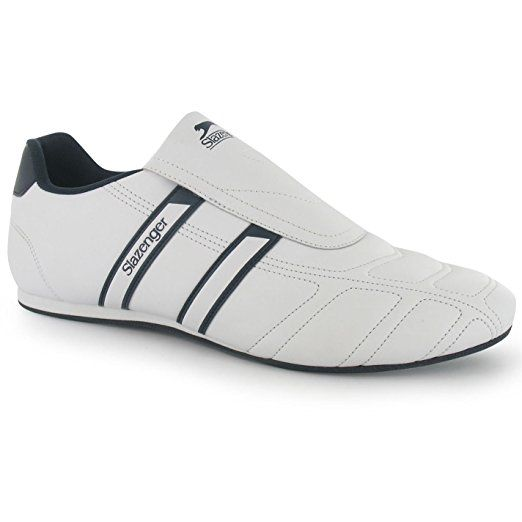 3b490caefac32 Slazenger Mens Warrior Trainers Slip On Leather Sports Shoes ...