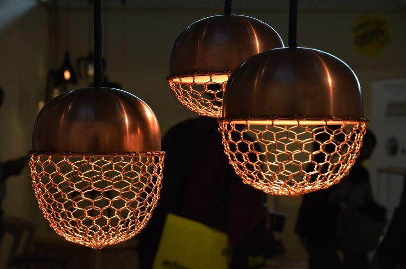 kenji fukushima design fuses wire mesh light using ancient kanaami ...