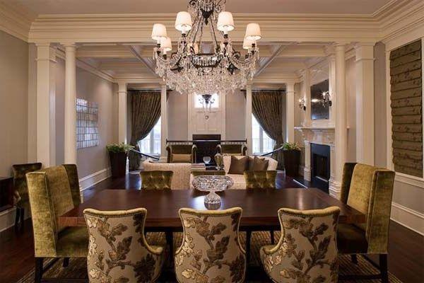 Inspiring Ideas For Dining Room Decorating Stylish Dining Room Dining Room Chairs Upholstered Dining Room Interiors