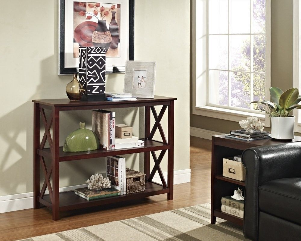 Table Espresso Occasional Console Bookshelf Home Furniture Living-room Office