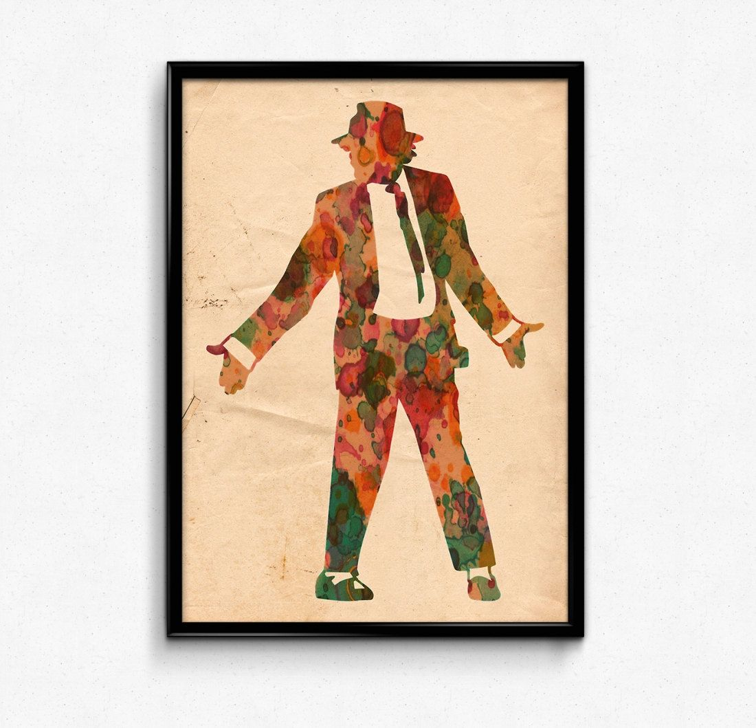 Michael Jackson Poster Watercolor Print - Fine Art Digital Painting ...