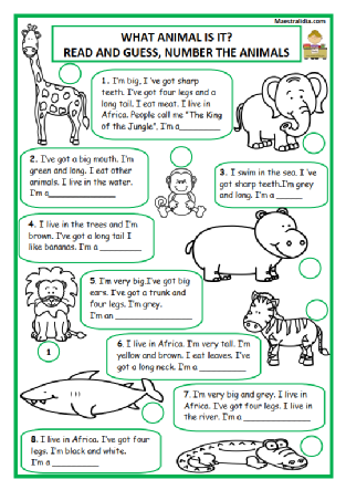 Animals In 2020 Kindergarten Worksheets Africa People Animals