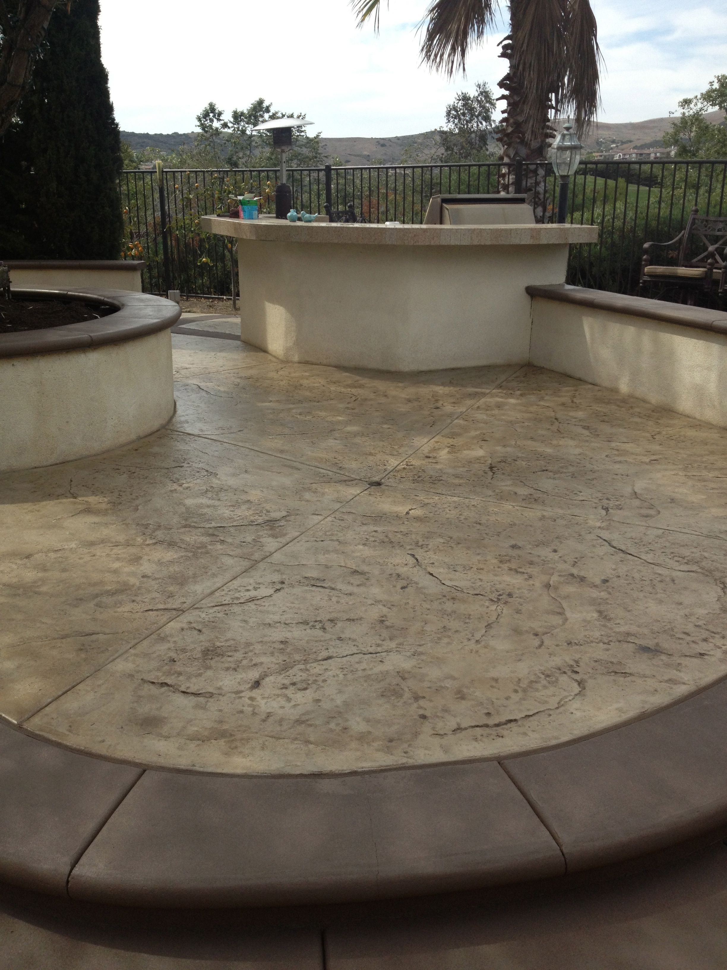 Superior Concrete Color Restoration On A Patterned Or Stamped Concrete In San  Clemente Ca. Work Done