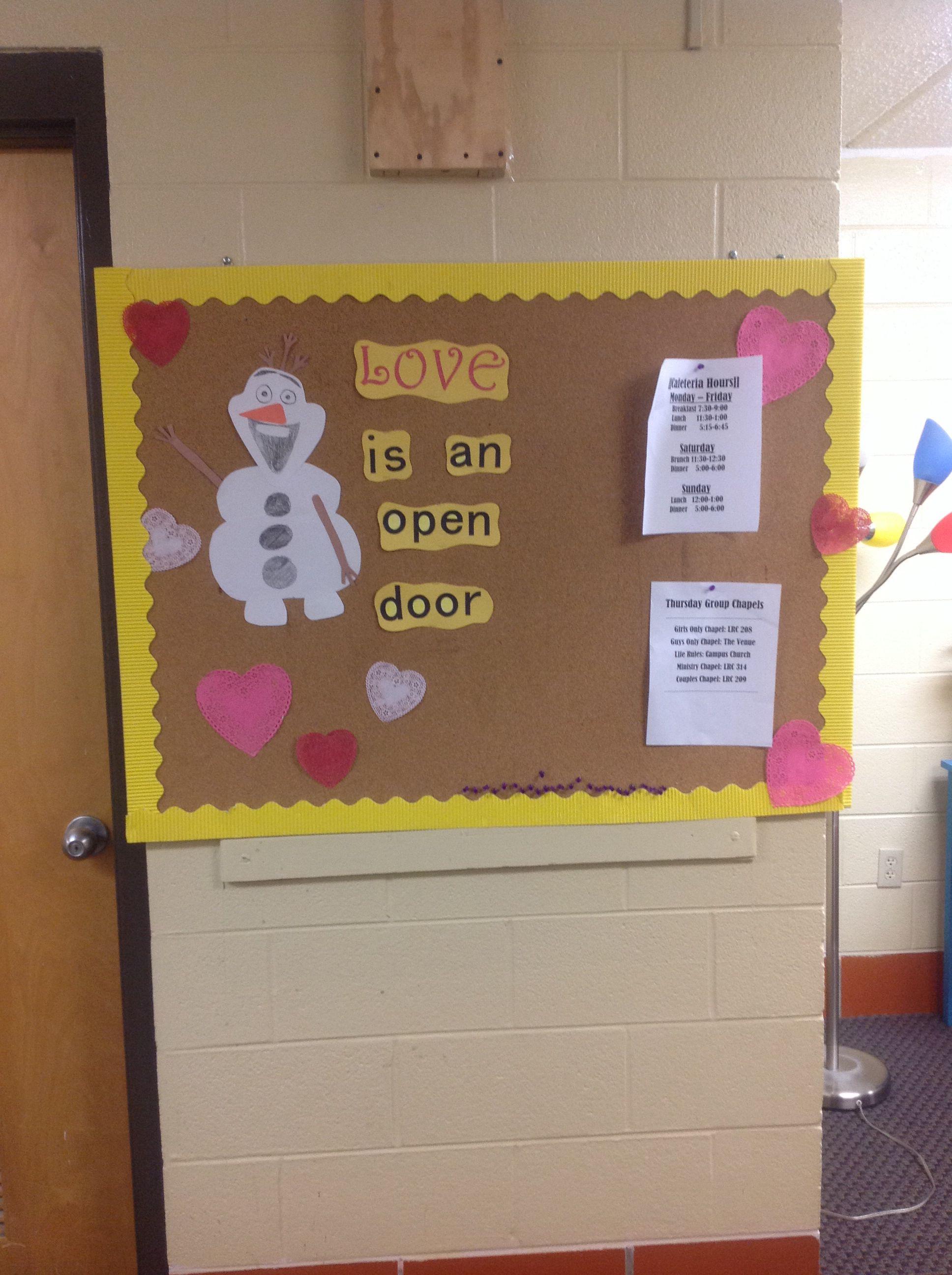 Tennessee Temple University Frozen Bulletin Board
