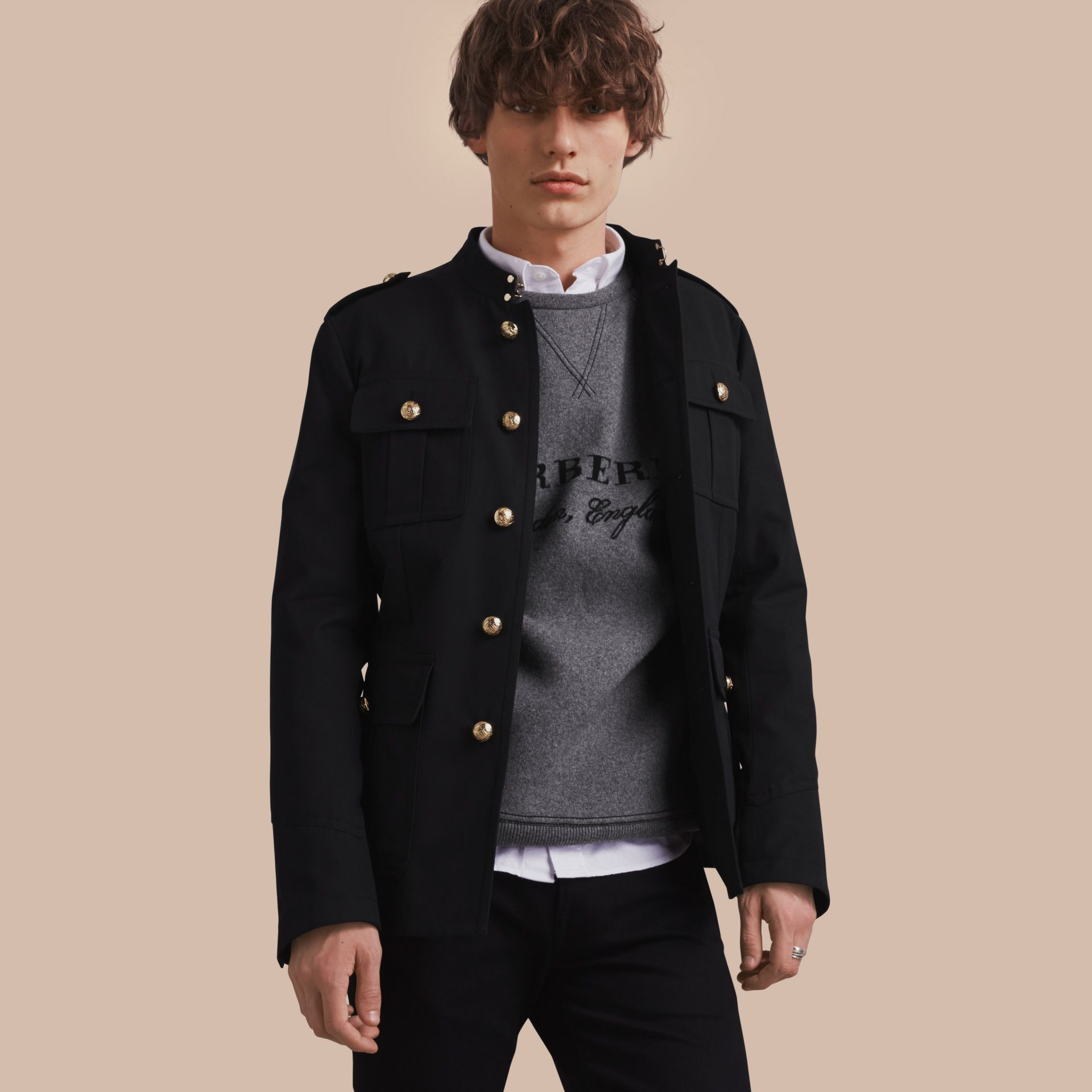 Military Cotton Jacket Burberry Cotton Jacket Jackets Burberry Trench Coat